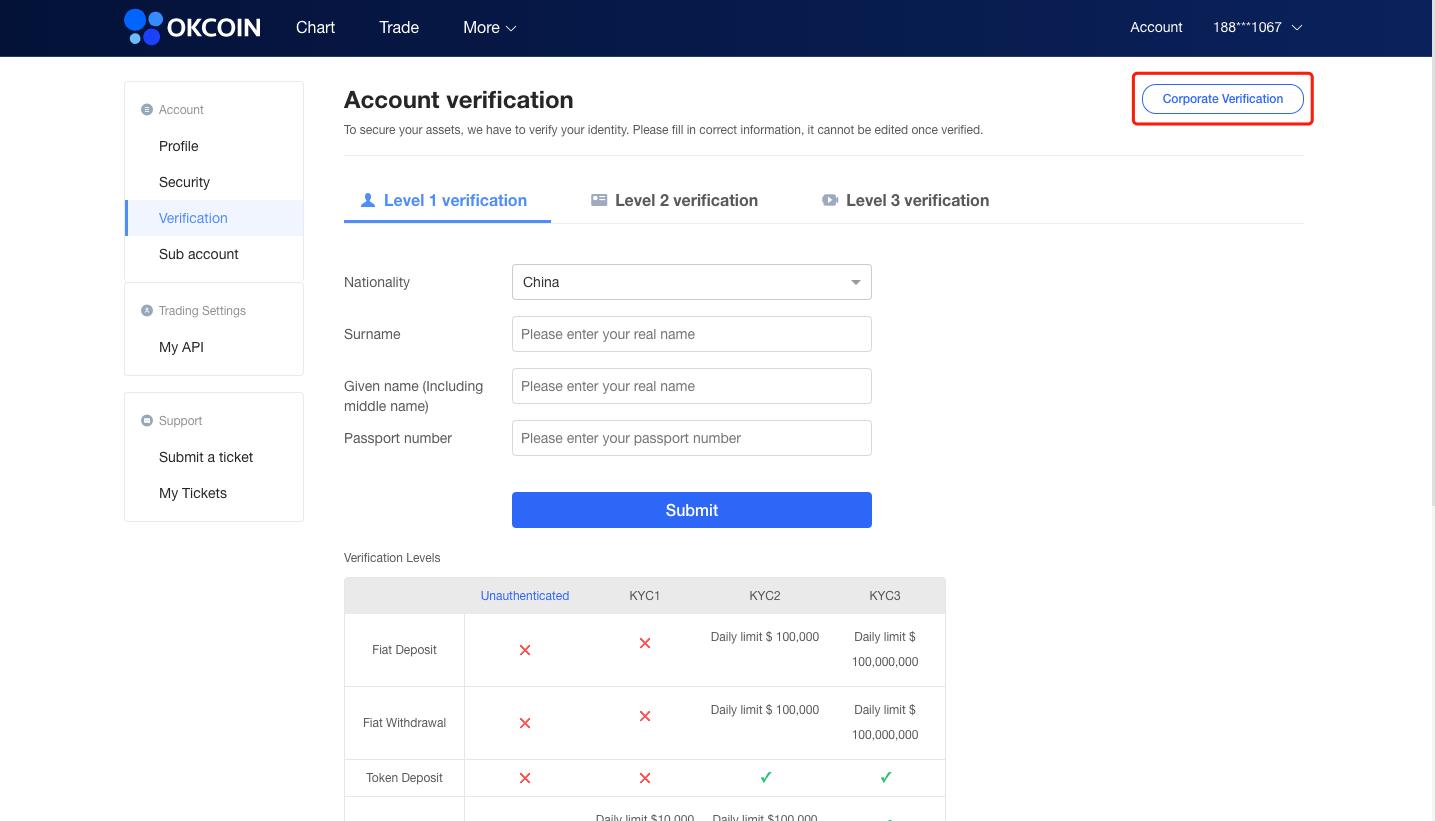 KYC Verification – OKCoin