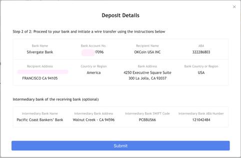 How to Deposit Fiat via Wire Transfer – OKCoin Wells Fargo Domestic Wiring Instructions on